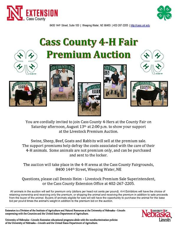 Livestock Premium Auction flyer
