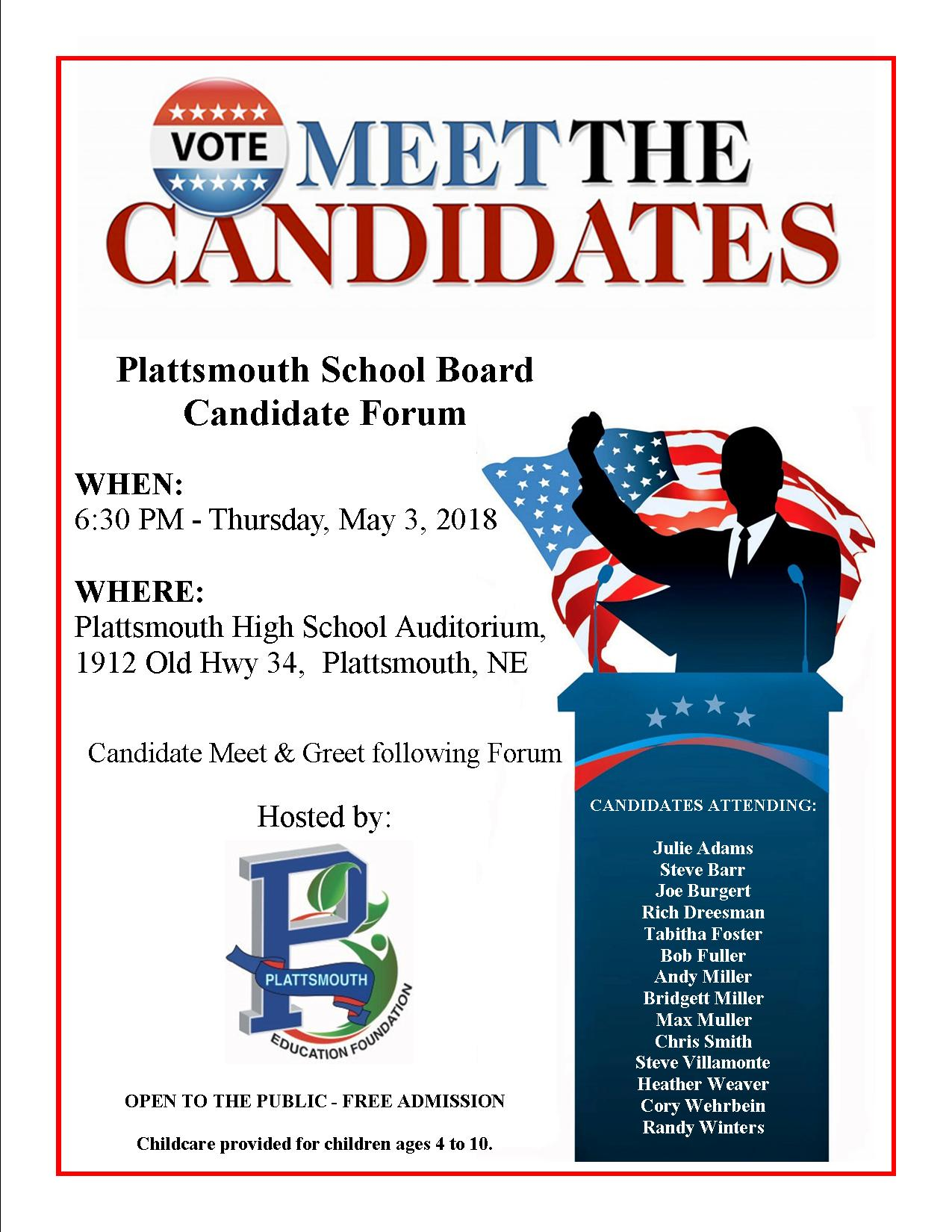 Candidate Forum Flyer Primary