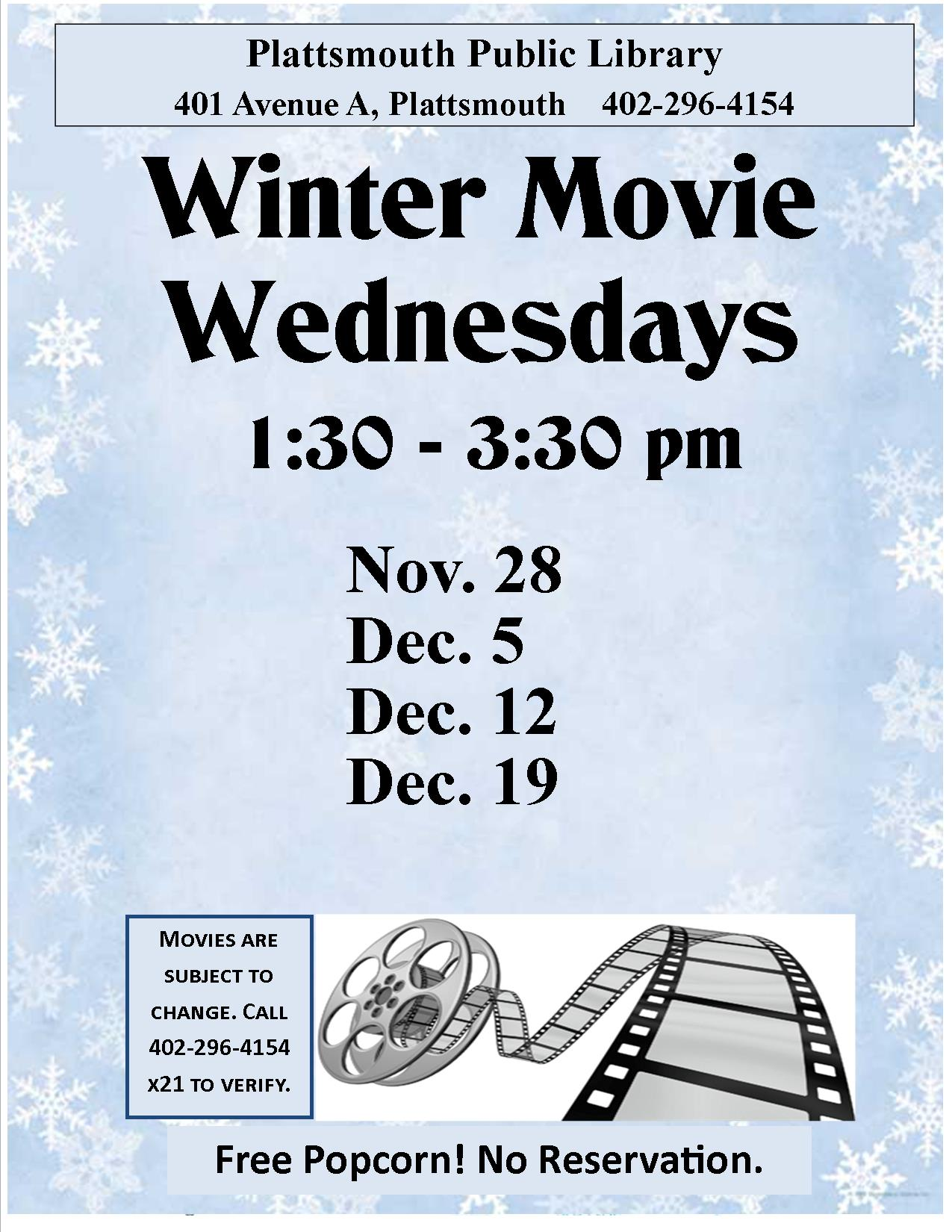 Winter Movie Wednesdays Facebook