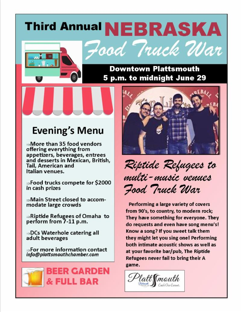 Food truck war flyer 2019