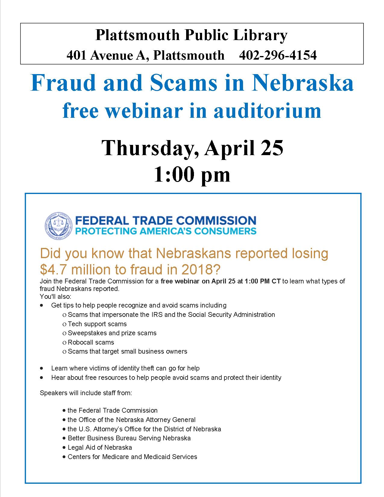 Fraud and Scams webinar