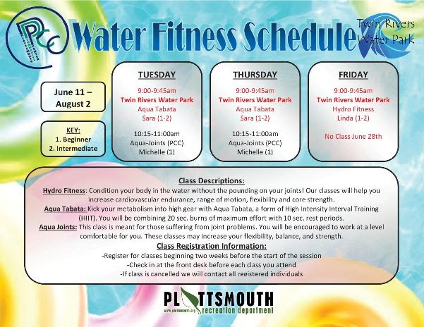 PCC waterschedule