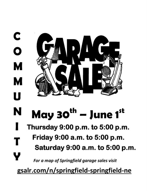 Springfield Garage Sale Flyer 2019
