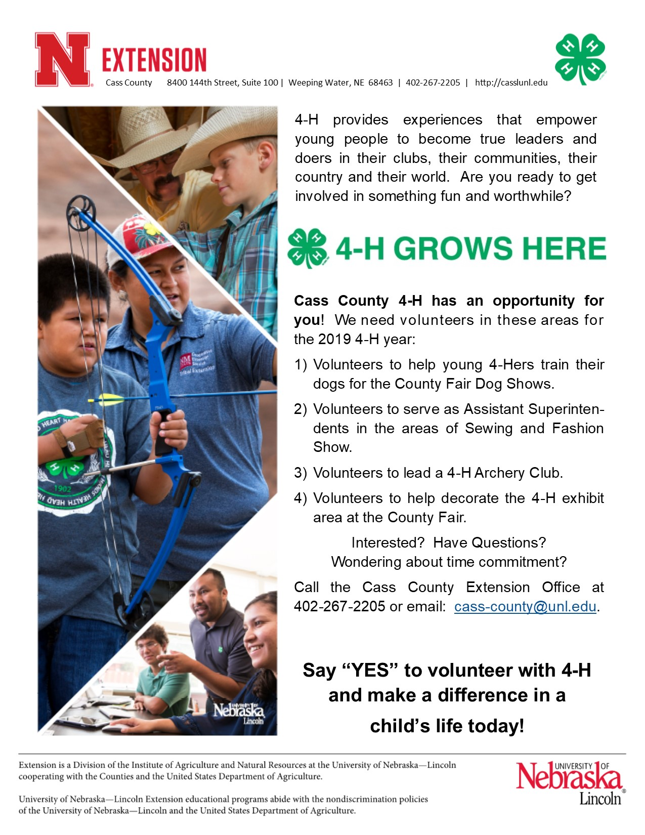 Volunteer with 4 H 2019